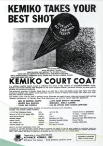 About Kemiko - Retro Kemiko Ad for Court Coat
