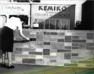 About Kemiko - Retro Kemiko Brick Wall Using Stone Tone Stain